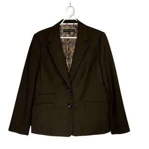 Nipon Boutique Women's Chocolate Formal Buttoned Blazer